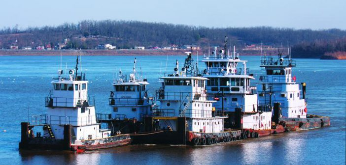 Towboats in a group. WorkBoat file photo.