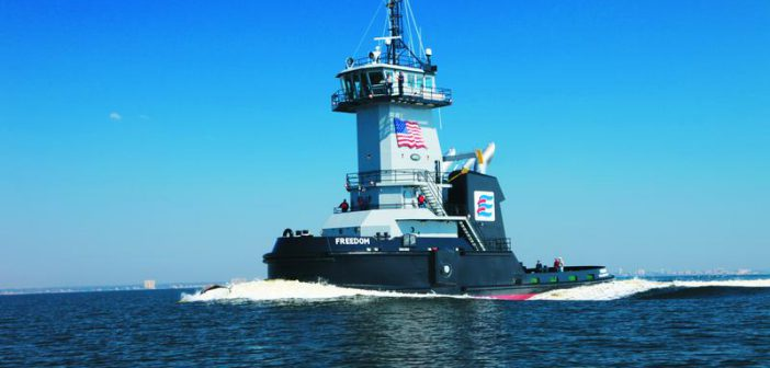 The Freedom is the first ATB tug built by Patti Marine.