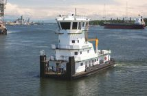 The towboat Crown Point is the first West Coast vessel to obtain a Certificate of Inspection under Subchapter M. Tidewater Transportation & Terminals photo.