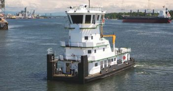 The towboat Crown Point was the first West Coast vessel to obtain a Certificate of Inspection under Subchapter M. Tidewater Transportation & Terminals photo.