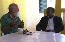 With Galmudug President Abdi Qeybdiid, Galcayo, Somalia, February 2013 Photo courtesy Max Hardberger