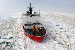 The USCG's medium icebreaker Healy. Photo: USCG