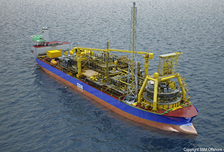 An FPSO rendering. Image: SMB Offshore.