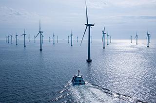An offshore wind farm. Siemens photo.