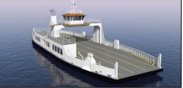 A rendering of the EBDG-designed 28-car ferry. EBDG image.