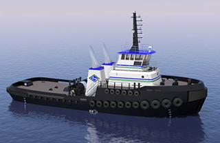 A rendering of the Jensen-designed tug. Jensen Maritime image.