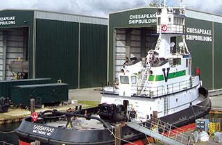 Vane Brothers' Chesapeake-built Sassafras. Photo: Chesapeake Shipbuilding.