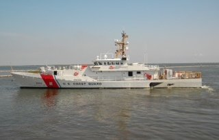 Bollinger-built U.S. Coast Guard fast response cutter Heriberto Hernandez. Photo: Bollinger.