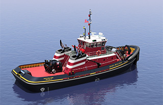 A rendering of the Brian A. McAllister from Jensen Maritime.