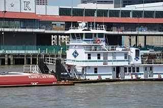 A Kirby tow on the Mississippi River. David Krapf photo.