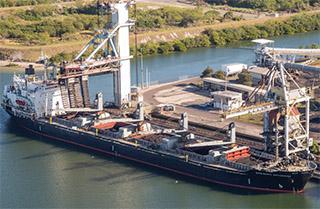 The Mississippi Enterprise bulk carrier is part of International Shipholding Corporationu2019s Jones Act dry bulk fleet. ISH photo.