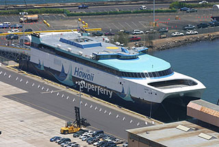 The former Hawaii Superferry Alakai is now owned by the U.S. Navy. Creative Commons photo by Christopher P. Becker.