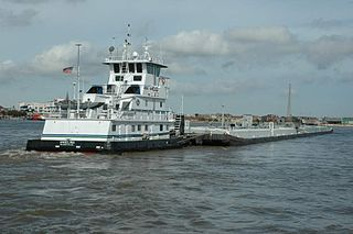 Kirby Corporation's Angelina pushes a barge on the Mississippi River. Creative Commons photo/J. Glover