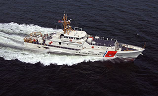 Coast Guard Sentinel-class cutter Margaret Norvell operating in the Gulf of Mexico. USCG photo.