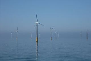 Dong Energy's Barrow offshore wind farm in the Irish Sea. Creative Commons photo/Andy Dingley.