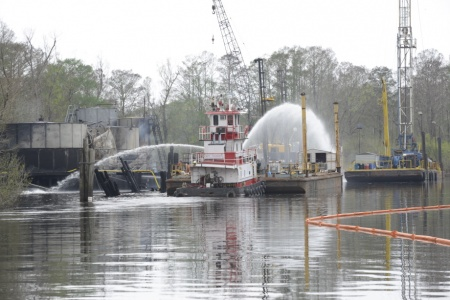 03.17.16 BayouSorrelFire extinguished USCG 2