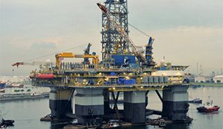 Noble Drilling's Noble Jim Day while under construction at Sembcorp Marine. Sembcorp photo.