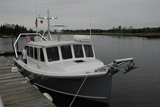 Stockton University's research vessel Petrel. Kirk Moore photo.