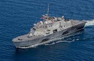 The Lockheed-built littoral combat ship Fort Worth. U.S. Navy photo.