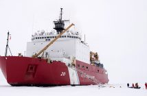 USCG medium icebreaker Healy in the Arctic Ocean, Sept. 4, 2015. USCG photo/PO2 Cory Mendenhall.