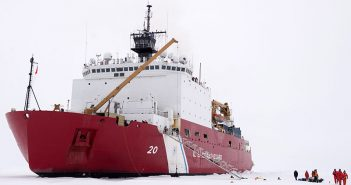 USCG medium icebreaker Healy in the Arctic Ocean, Sept. 4, 2015. USCG photo/PO2 Cory Mendenhall.