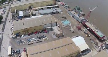 An aerial view of Conrad's Morgan City, La., facility. Screenshot via YouTube.