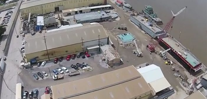 An aerial view of Conrad's Morgan City, La., facility. Screenshot via YouTube.