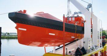 A Palfinger fast rescue boat davit. Palfinger Marine photo