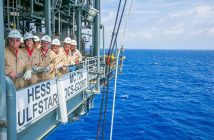 Congressmen Steve Scalise and other lawmakers tour a Hess drilling platform in the Gulf of Mexico. Photo: Congressman Steve Scalise Facebook page.