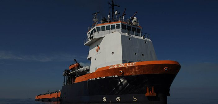 Seacor Holdings' Seacor Lee OSV. Seacor was at the center of a 2005 court case concerning the disputed terms of a vessel boarding agreement. USCG photo.