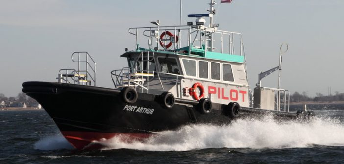 Gladding-Hearn will build a pilot boat for Mobile pilots that is similar to the Sabine Pilots' recent delivery. Gladding-Hearn Shipbuilding photo