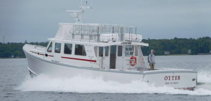 Wesmac delivered the Otter, a Super 46 approved for ferry serivce to Isle auHaut in Maine. Wesmac photo