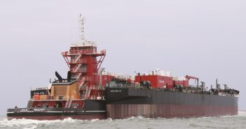 The Kim M. Bouchard and B. No. 270 launched in 2015 are among big new ATB units in maritime traffic. Bouchard Transportation photo