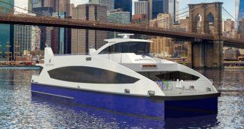 Horizon Shipyard and Metal Shark will build 19 high speed ferries for New York City. Rendering courtesy Metal Shark