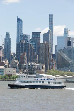 The 149-passenger ferry Thomas Jefferson in the Hudson River near Manhattan.