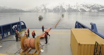 Oil spill response crews drill near Valdez, Alaska in 2012. Shell photo.