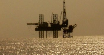 Offshore oil rig in the Arabian sea. Creative Commons photo by Nandu Chitnis.