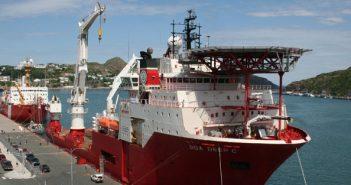An OSV at the port of St. John, New Brunswick. St. John's Port Authority photo.