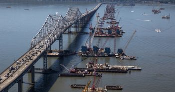 The New York Thruway bridge under construction in September 2015. New York Thruway photo