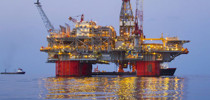 BP's Thunder Horse platform in the Gulf of Mexico. BP photo.