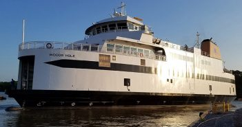 The new Martha's Vineyard ferry Woods Hole. EBDG photo.