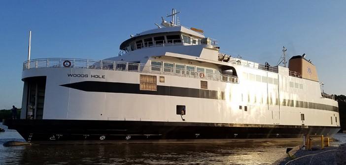 The new Martha's Vineyard ferry Woods Hole. EBDG photo.