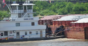 A barge tow on the Mississippi River in July 2016. David Krapf photo.
