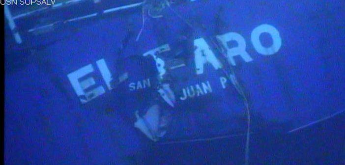 The wreck of the El Faro. NTSB photo.