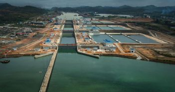 Expanded locks on the Panama Canal. Panama Canal Authority photo.