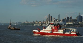 Set your boat aflame because of lazy onboard dryer maintenance, and the fireboat may not be able to save you. FDNY fireboat Three Forty Three was on hand for the Macy's 4th of July fireworks in 2013. FDNY photo.