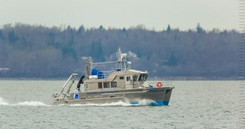 The research vessel Gulf Surveyor. University of New Hampshire photo