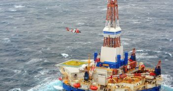 The 2012 grounding of Shell's mobile offshore drilling unit Kulluk in the Arctic was one case investigated by the NTSB. Coast Guard photo.