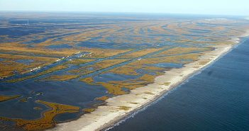 Wetlands once protected Louisiana against flooding, but various factors have seen the marshland deteriorate, putting industry and society at risk. U.S. Geological Survey photo.