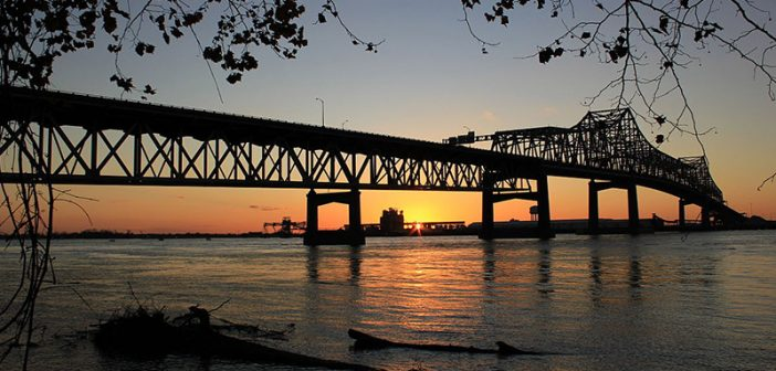 The Horace Wilkinson Bridge across the Mississippi River in Baton Rouge, La. Creative Commons photo by Kevin Andrew Woolsey.